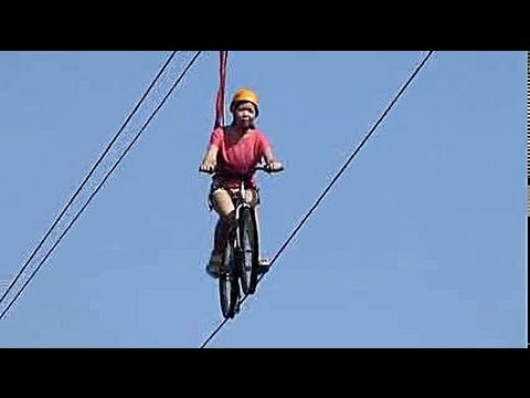 WORLDS FIRST BIKE ZIPLINE, CHOCOLATE HILLS ADVENTURE PARK  BOHOL PHILIPPINES. TRAVEL.