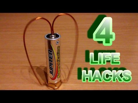 4 Simples Life Hacks con Pilas | DIY