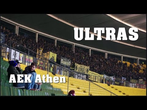 ULTRAS AEK Athen in VIENNA | Europa League | 07.12.2017 -  AEK vs. Austria Wien