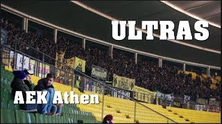 ULTRAS AEK Athen in VIENNA | Europa League | 07.12.2017 -  AEK vs. Austria Wien