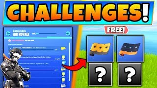 Fortnite AIR ROYALE CHALLENGES GUIDE! Free Rewards and Sky Chests! (Battle Royale Update)