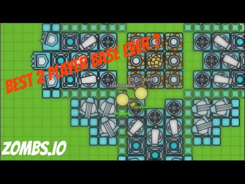 Best 2 Player base ever? | zombs.io | Gameplay #1