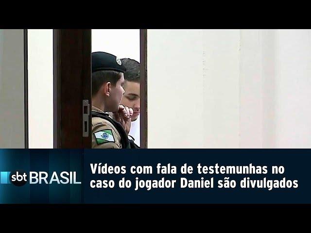 Vídeos com falas de testemunhas no caso do jogador Daniel são divulgados   SBT Brasil (22/02/19)