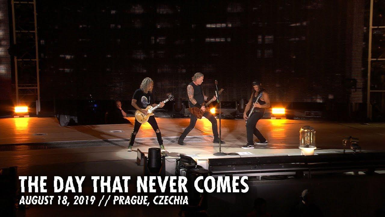 """Resultado de imagem para Metallica libera clipe ao vivo de """"The Day That Never Comes"""""""