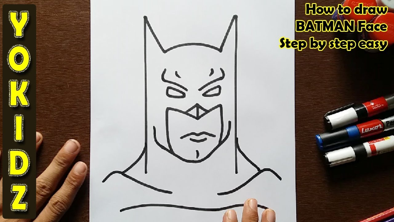 How To Draw Batman Face Step By Step Easy Youtube
