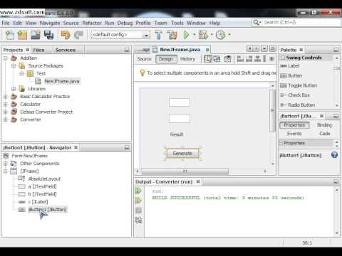 Adding two number in Java GUI by NetBeans - YouTube