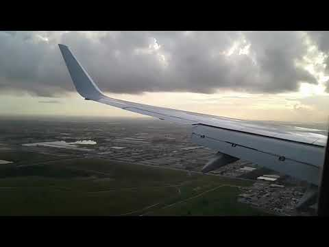 American Airlines 737- 800 flight from Orlando to Miami to Antigua