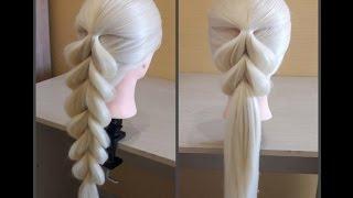 Download Французская коса в обратном положении🌺Легкий способ самой себе сделать косу.Коса на резинках. Mp3 and Videos