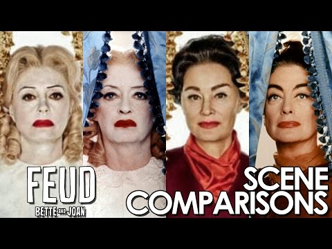 Feud: Bette and Joan | Susan Sarandon and Jessica Lange - scenes comparisons