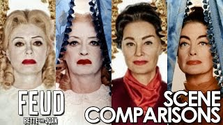 Feud: Bette and Joan | Susan Sarandon and Jessica Lange - scene comparisons