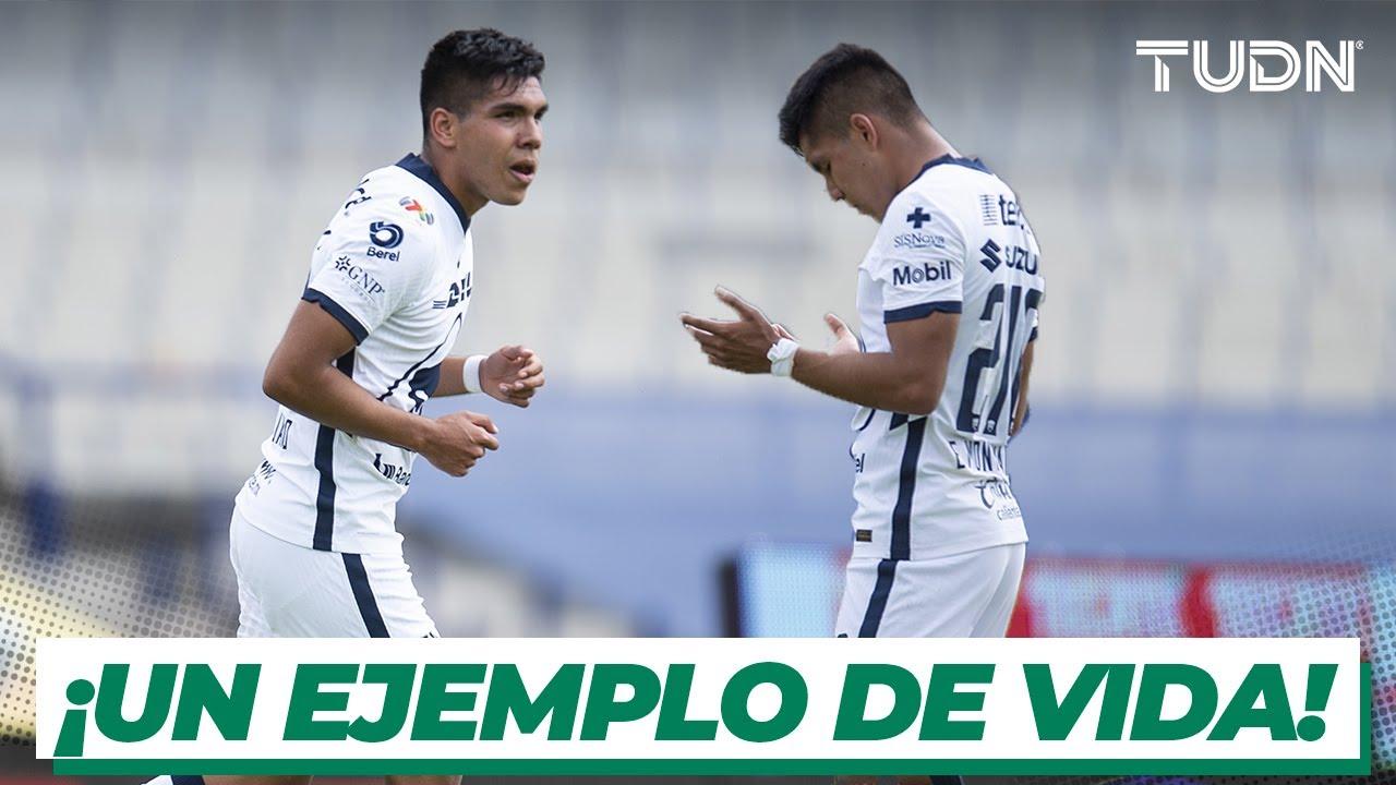 ¡GRAN HISTORIA! Montejano: De superar la perdida de su madre a debutar con gol en Pumas I TUDN