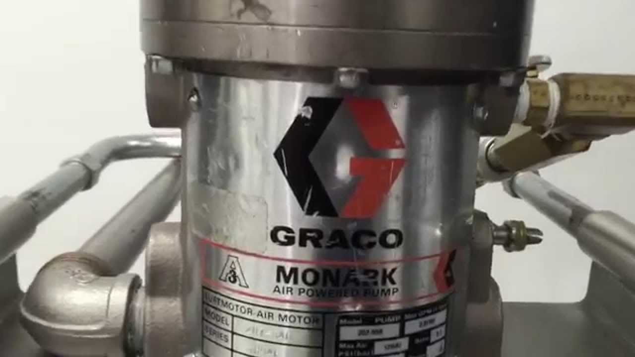 Free Air Pump >> AIR POWERED GRACO MONARK DRUM PUMP MODEL 207 550 - YouTube