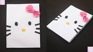DIY Hello Kitty Notebook / How to make Notebook / DIY Notebook / Back to School