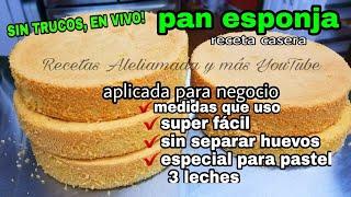 """PAN ESPONJA 8"""", 10"""" Y 1/2 Plancha, MI RECETA DE 6 HUEVOS/ PARA NEGOCIO."""