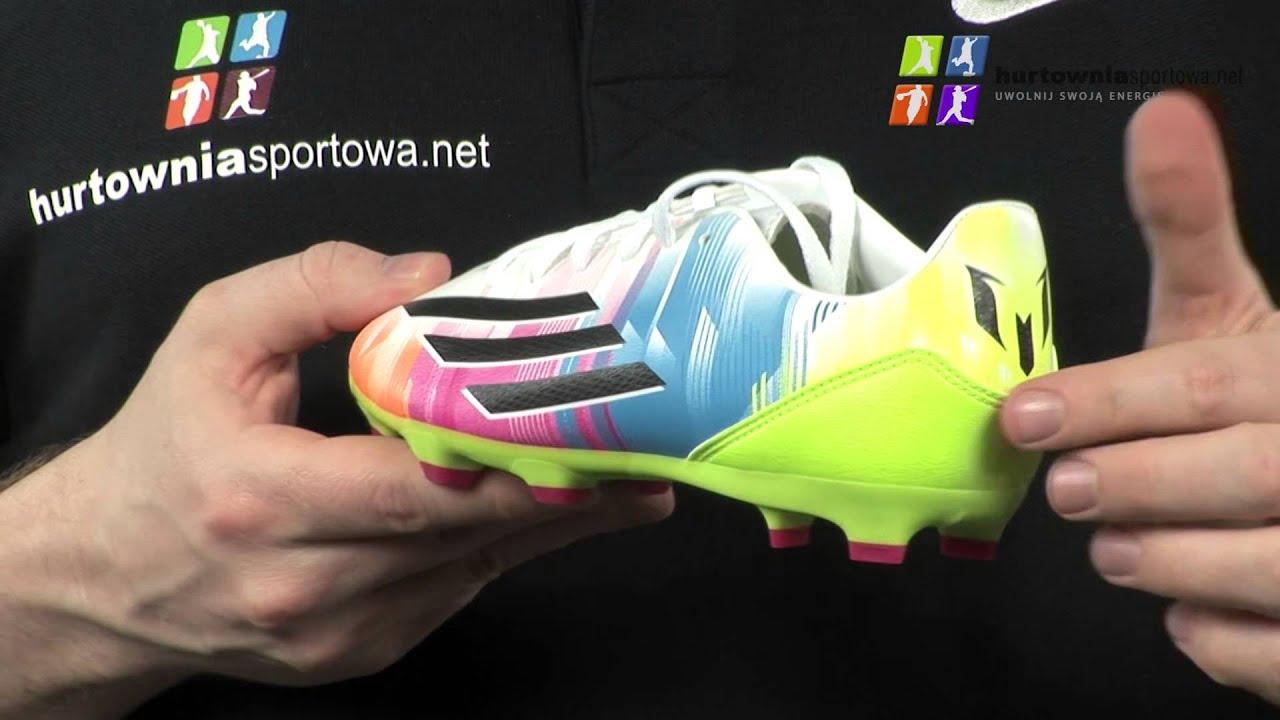 d12c370498147 Buty piłkarskie ADIDAS Messi F50 F10 TRX FG Jr F32698 - YouTube