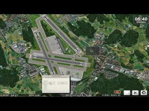 Watch Poppy Play Air Traffic Controller game at  Zurich Airport  