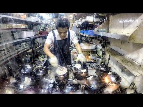 Cooking the Hot Pot at High Speed. Hong Kong Street Food.