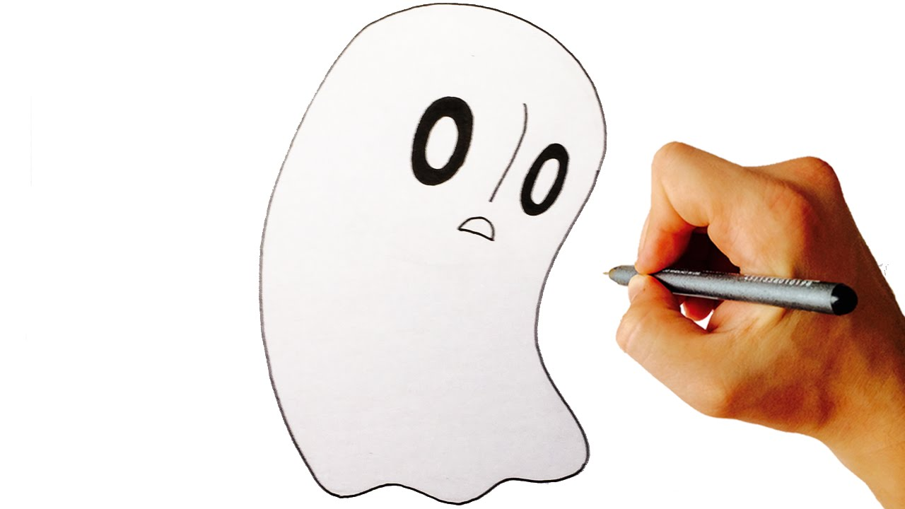 Line Drawing Step By Step : How to draw napstablook from undertale easy step by drawing