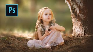 Special Outdoor Portraits Edits (Child) in Photoshop | Photoshop CC Tutorial