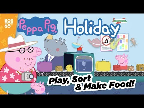 Peppa makes Food & Goes Swimming! It's Holiday Time with Peppa Pig