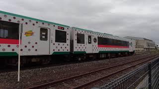 臨時快速湯けむり号仙台ゆき 古川駅到着。 #キハ110系 #陸羽東線 #古川駅