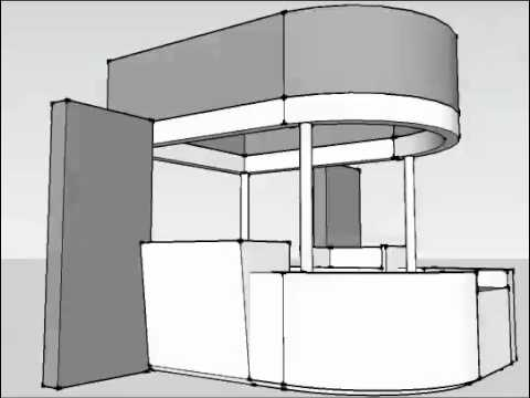 Exhibition Stand Drawing : Linx modular exhibition stand 5131 v2.1 info point youtube