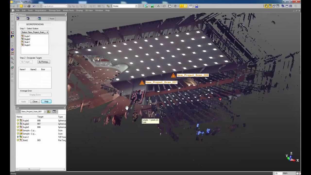 Trimble Realworks. Databehandling laserscaning. Video 2: Indlæsning ...