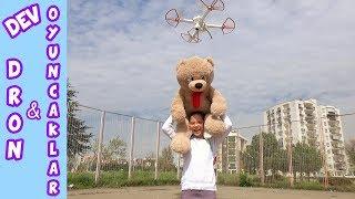 DRONE DEV OYUNCAKLARI UÇURABİLECEK Mİ? (Drone kırıldı !) Eğlenceli Çocuk Videosu - Funny Kids Videos