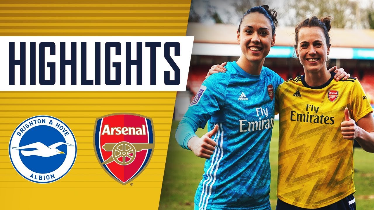 HIGHLIGHTS | Brighton & Hove Albion 0-4 Arsenal | Women's Super League