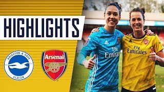 hIGHLIGHTS  Brighton & Hove Albion 0-4 Arsenal  Women's Super League