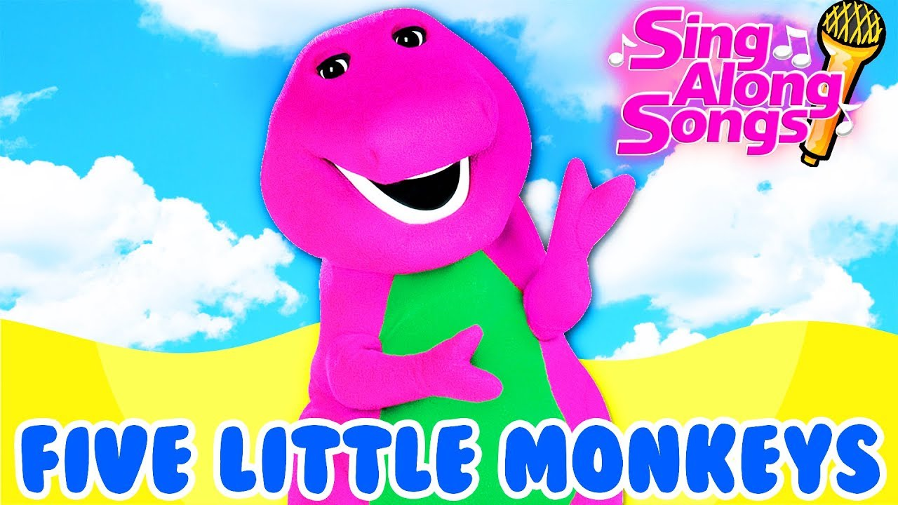 Barney And Friends Sing Along With Baby Five Little Monkeys Jumping