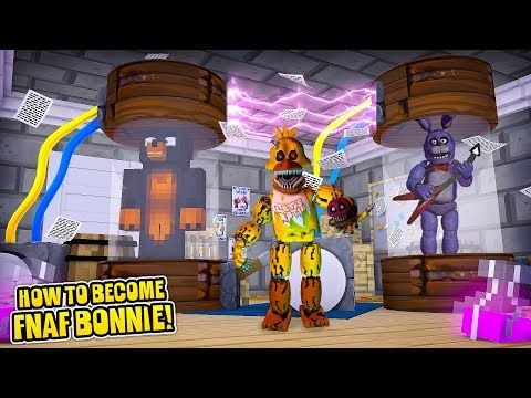 Minecraft HOW TO BECOME BONNIE FROM FNAF!!