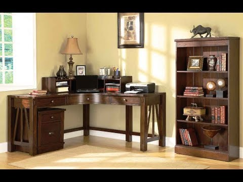 Home Office Corner Desk Furniture Ideas - YouTube