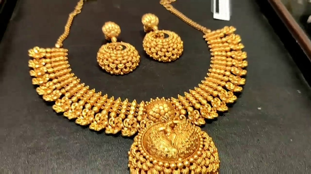 Tanishq Antique Necklace Collection With Weight Youtube