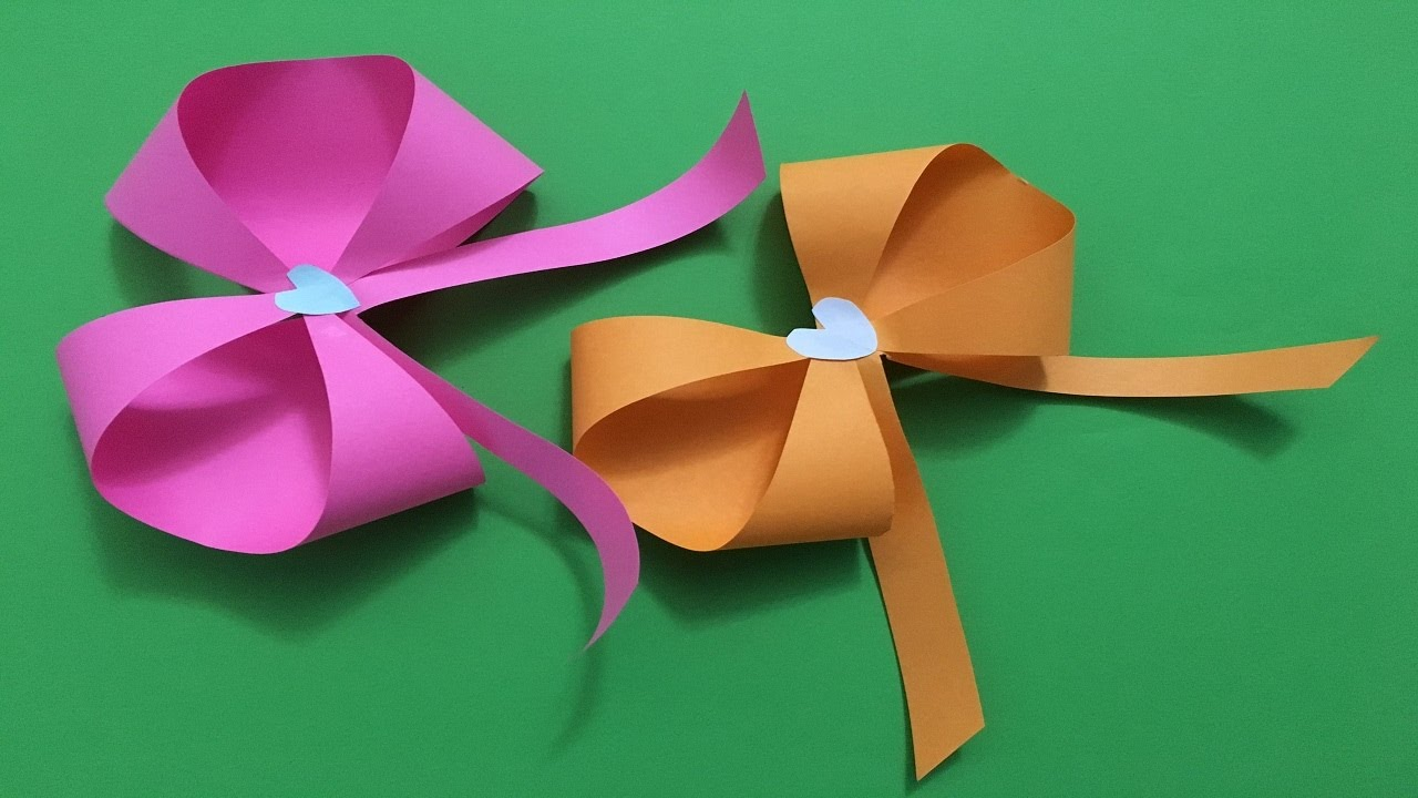 How To Make An Easy Beautiful Origami Paper Bow Tutorial Ribbon Folding Instructions