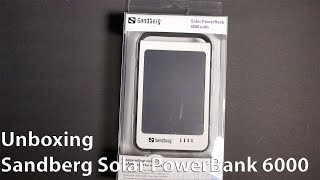 Unboxing Sandberg Solar PowerBank 6000 mAh