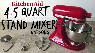 KitchenAid SALE! l [NO MUSIC] 4.5 Quart Tilt Head Stand Mixer Unboxing