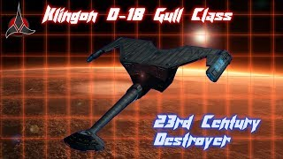 Klingon D-18 Gull Destroyer (Lost Design from FASA)