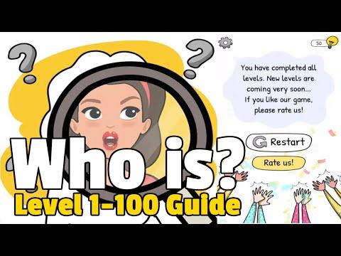 Who is? Brain Teaser & Riddles Level 1-100 Complete Walkthrough