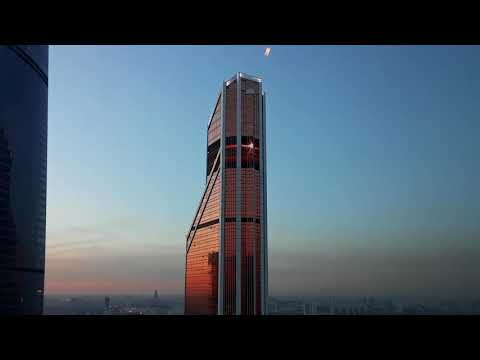 Moscow up-close - skyscraper as billboard 2