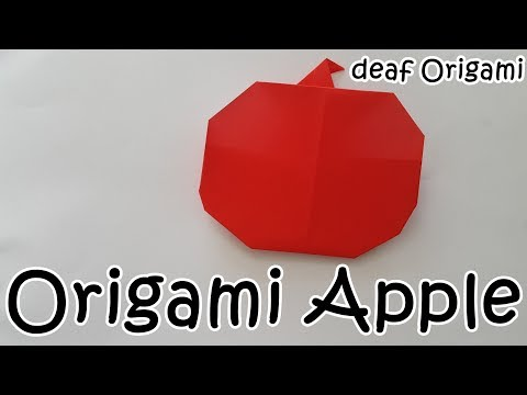 How to make : Origami apple Paper   very easy   (DIY)