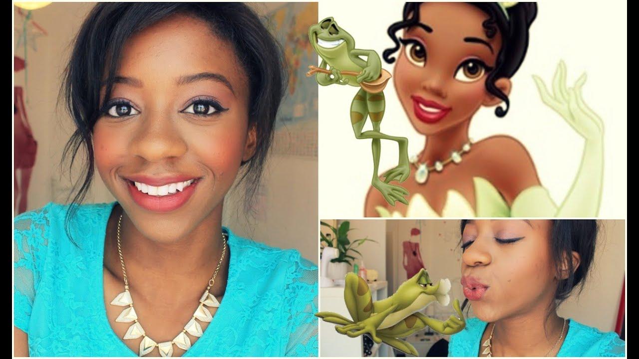 everyday princess tiana make-up - youtube