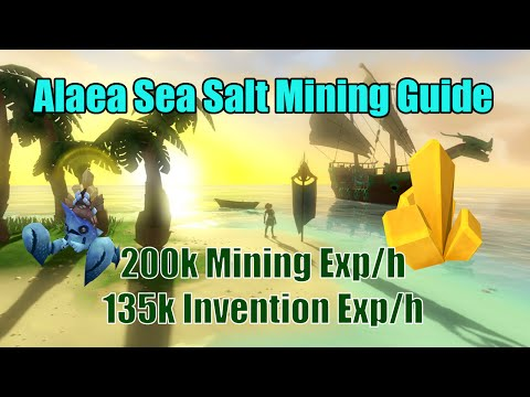 [Runescape 3] Alaea Sea Salt Mining Guide | The Arc Uncharted Isles Mining | 200k Mining exp/h AFK!