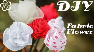 Интерьерные Цветы Своими Руками / Мастер класс / DIY Fabric Flowers