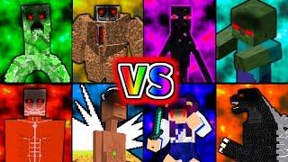 【Minecraft】史上最強のボス軍団vsうp主!?マイクラ世界の最強決定ト…