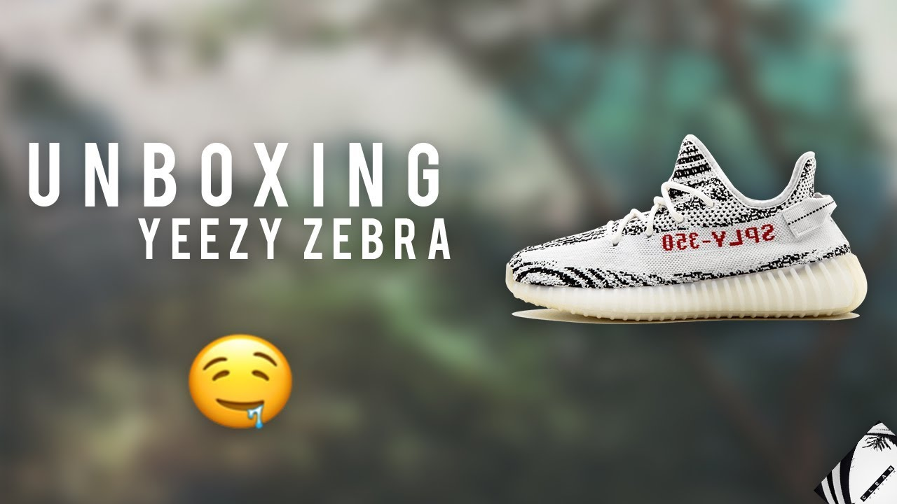 reputable site 99fd1 46e71 UNBOXING YEEZY ZEBRA AMAZON