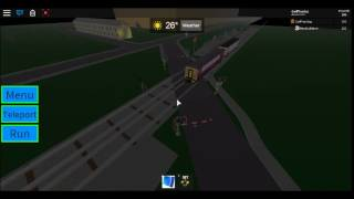 ROBLOX | NewBuildmini's Birthday Train passes Warvale Station and LC