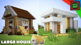 Minecraft: Modern vs Medieval Village Transformation! Large House YouTube