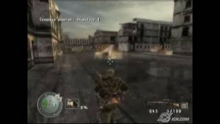 Sniper Elite Xbox Gameplay - Gas Tank Hit