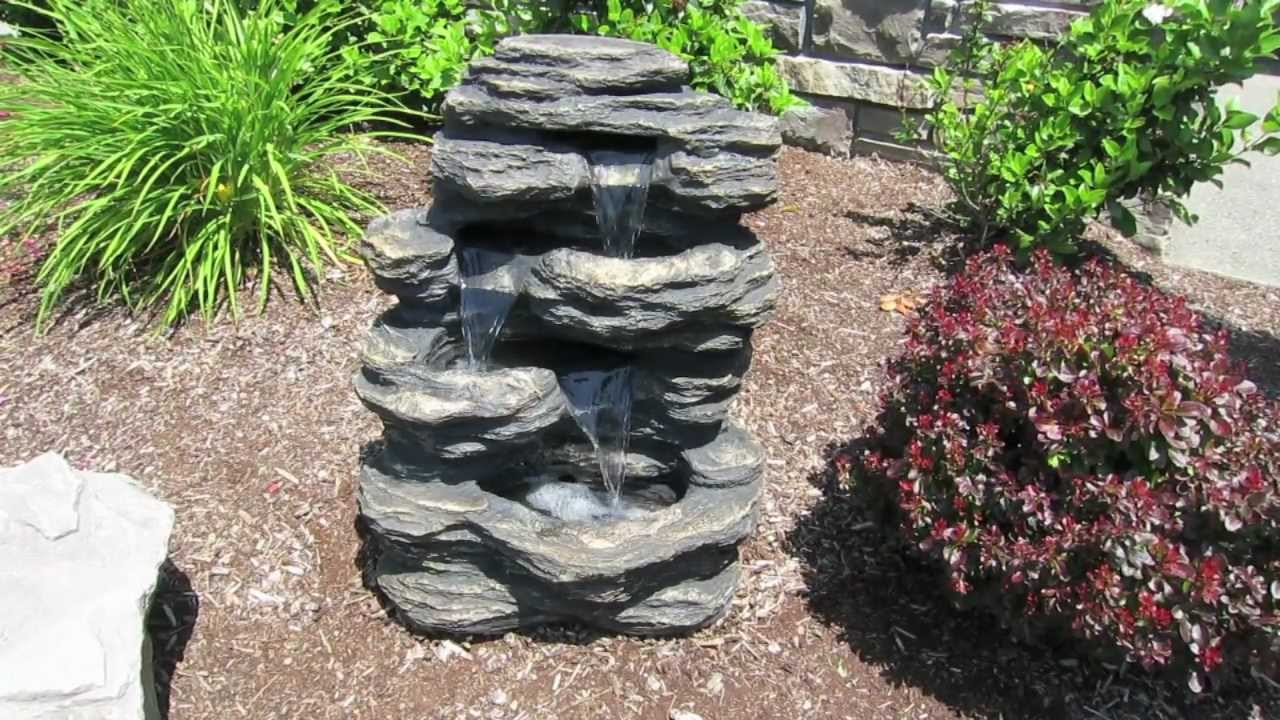 24 Rock Waterfall Fountain You